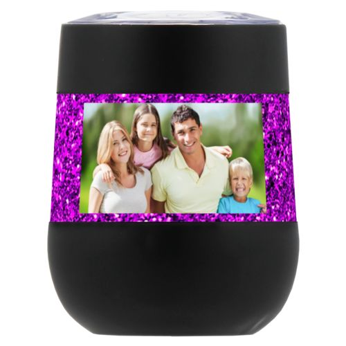 Personalized insulated wine tumbler personalized with a photo