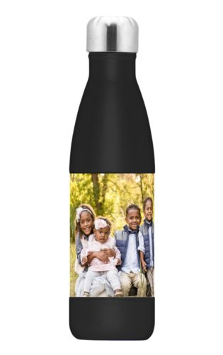 Stainless steel bottle personalized with a photo