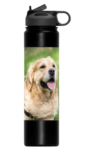 Custom water bottles personalized with a photo