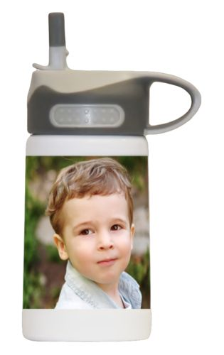 Water bottle for kids personalized with a photo
