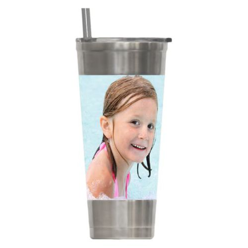 Personalized insulated steel tumbler personalized with photo