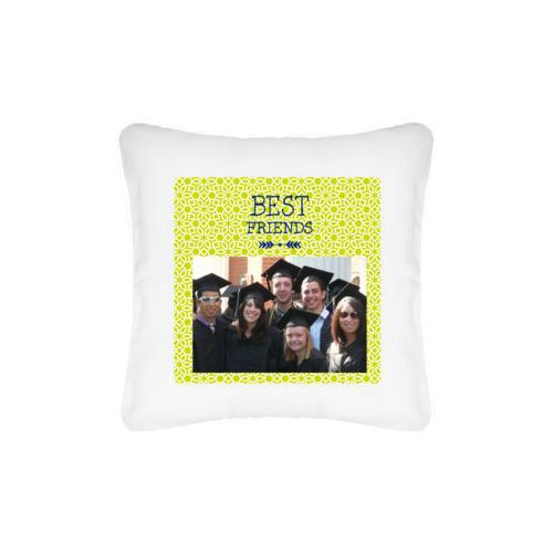 "Personalized pillow personalized with photo and the saying ""Best Friends"""