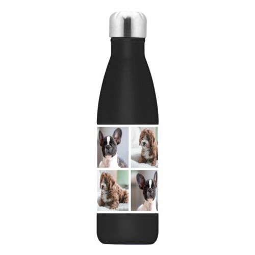 Custom steel water bottle personalized with photos