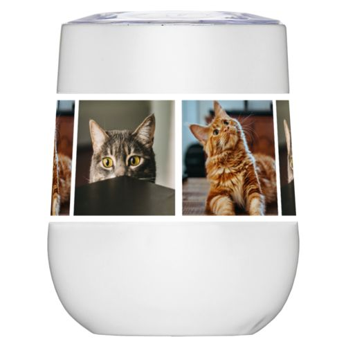 Personalized wine tumblers personalized with cat photos