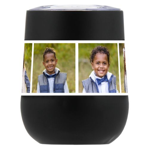 Personalized insulated wine tumbler personalized with photos
