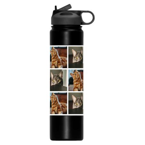 Custom water bottle personalized with photos