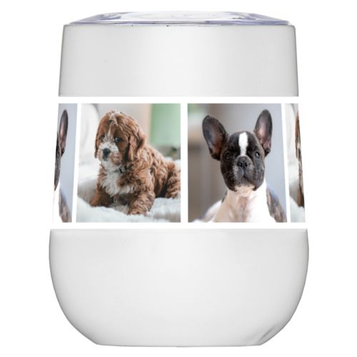 Personalized wine tumblers personalized with dog photos