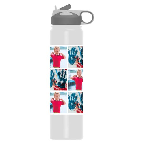 Personalized water bottle personalized with photos