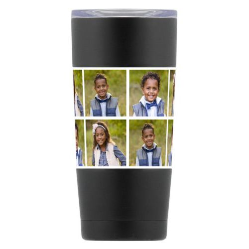 Personalized insulated steel mug personalized with photos
