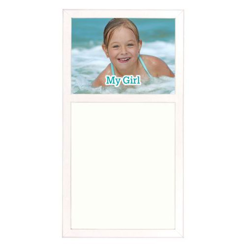"Personalized white board personalized with photo and the saying ""My Girl"""