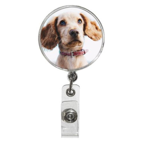 Personalized badge reel personalized with photo