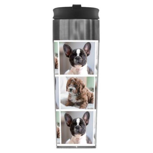 Personalized steel mug personalized with photos