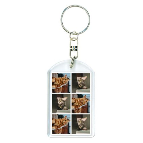 Personalized keychain personalized with photos