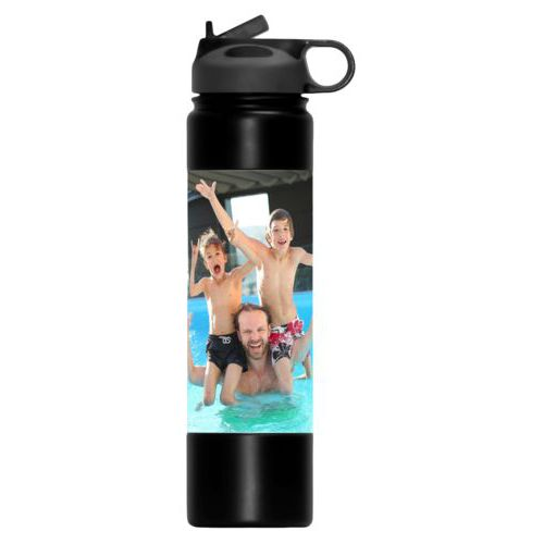 Personalized water bottle personalized with photo