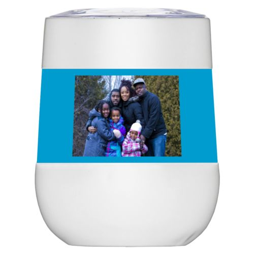 Personalized wine tumblers personalized with family photo
