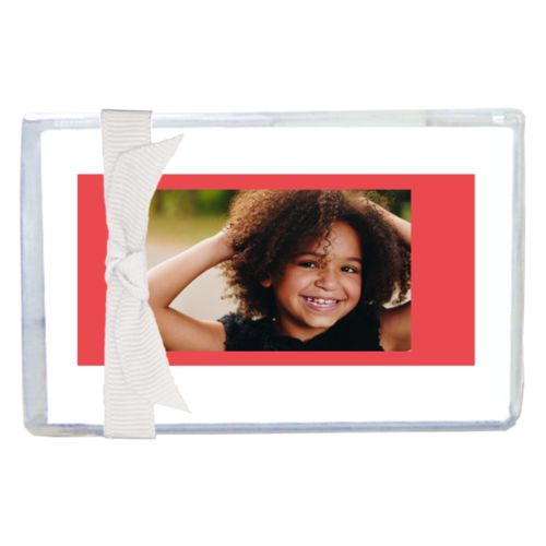 Personalized enclosure cards personalized with photo