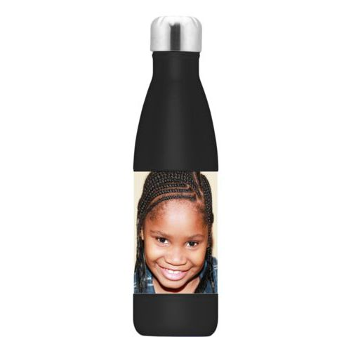 Metal insulated water bottle personalized with photo