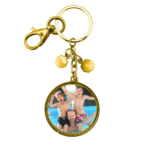 Personalized metal keychain personalized with photo