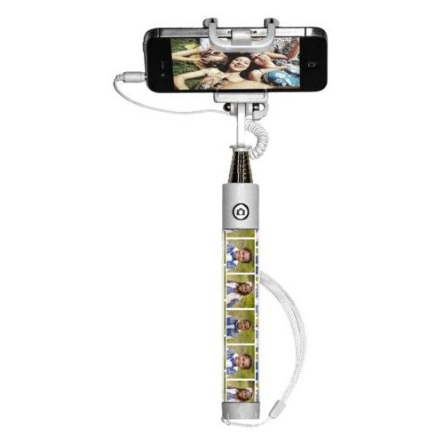 Personalized selfie stick personalized with photos