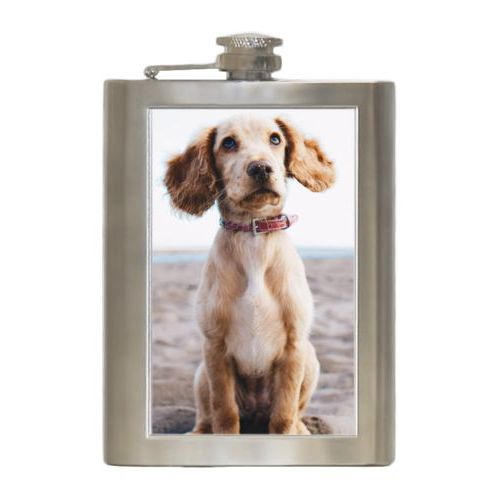 Personalized 8oz flask personalized with photo