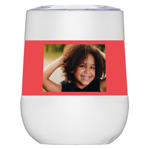Personalized insulated wine tumbler personalized with photo