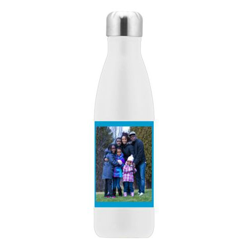 Metal drink bottle personalized with photo
