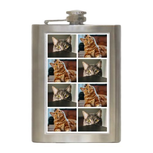 Personalized 8oz flask personalized with photos