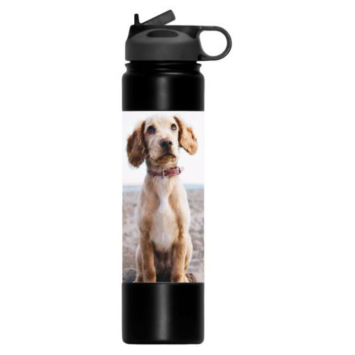 Double insulated water bottle personalized with photo
