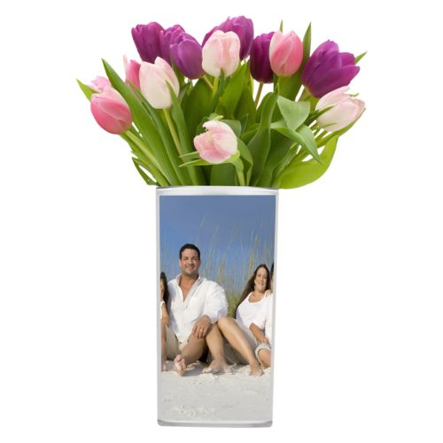Personalized vase personalized with photo