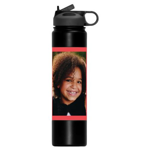 Insulated water bottle personalized with photo