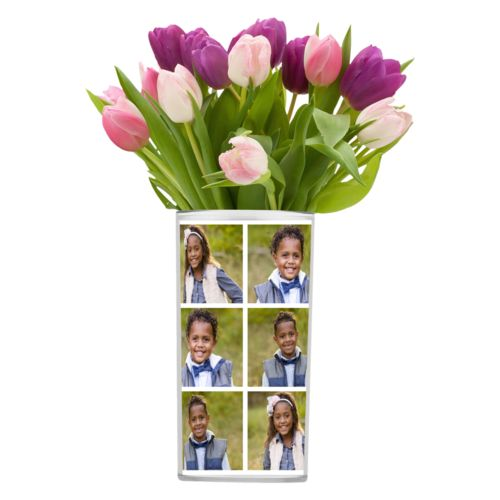 Personalized vase personalized with photos