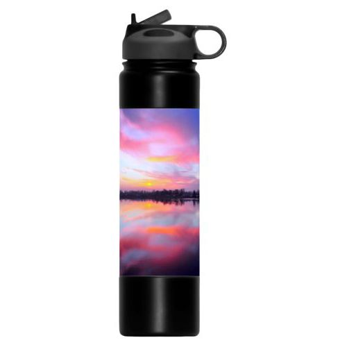Custom water bottle personalized with photo