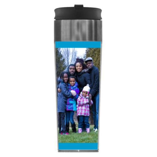 Personalized steel mug personalized with photo