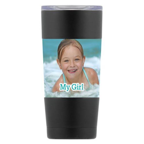 "Personalized insulated steel mug personalized with photo and the saying ""My Girl"""