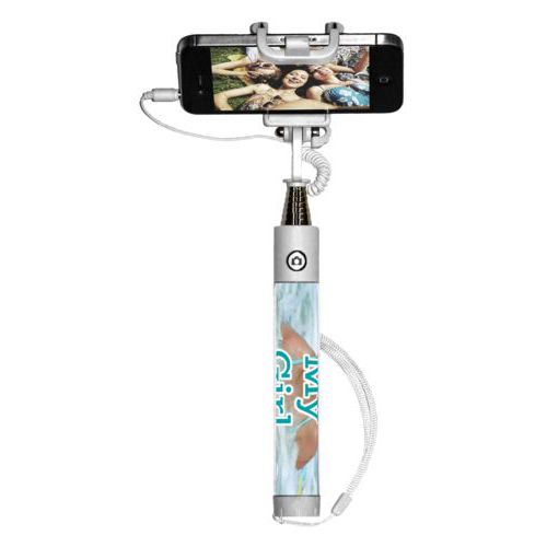 "Personalized selfie stick personalized with photo and the saying ""My Girl"""