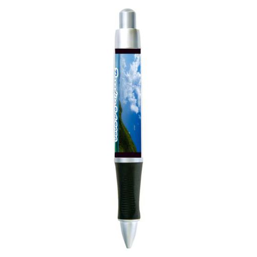 "Personalized pen personalized with photo and the saying ""Paradise 2-4-2020"""