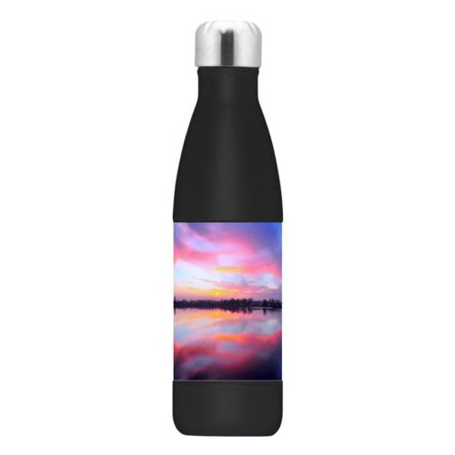 Personalized stainless steel water bottle personalized with photo