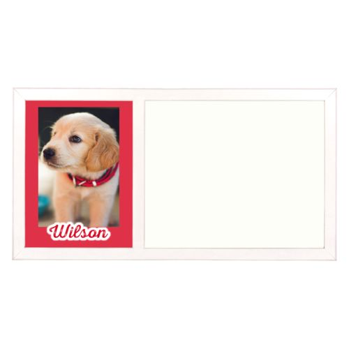 "Personalized white board personalized with photo and the saying ""Wilson"""