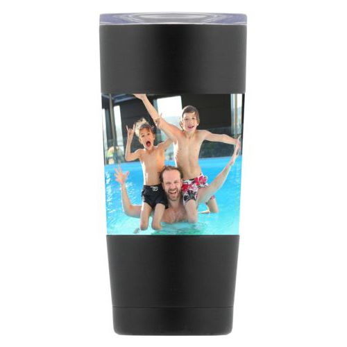 Personalized insulated steel mug personalized with photo