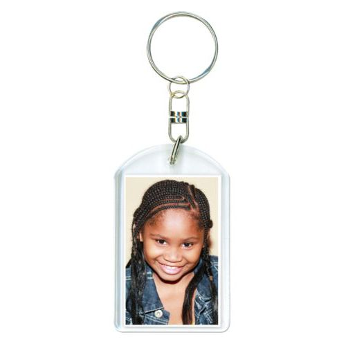 Personalized plastic keychain personalized with photo