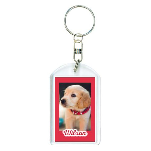 "Personalized keychain personalized with photo and the saying ""Wilson"""