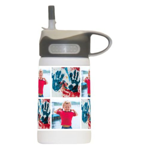 Boys water bottle personalized with photos