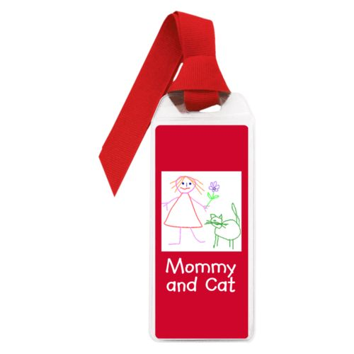 "Personalized book mark personalized with photo and the saying ""Mommy and Cat"""