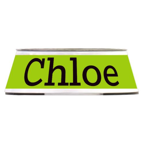 "Personalized pet bowl personalized with the saying ""Chloe"""