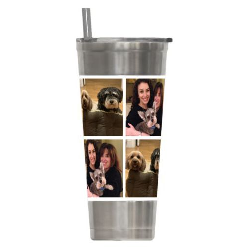 Personalized insulated steel tumbler personalized with photos