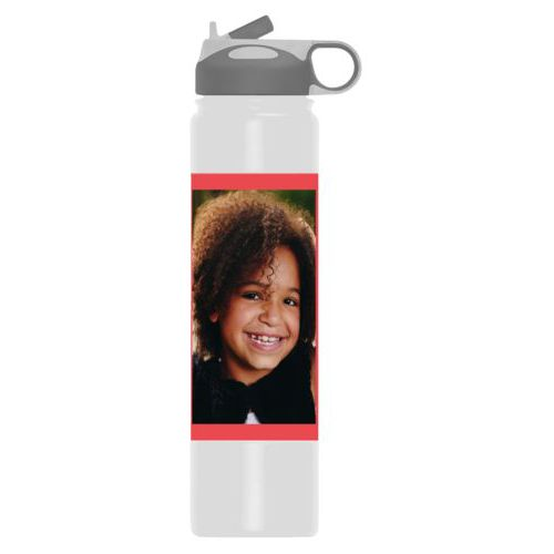 Vacuum insulated water bottle personalized with photo