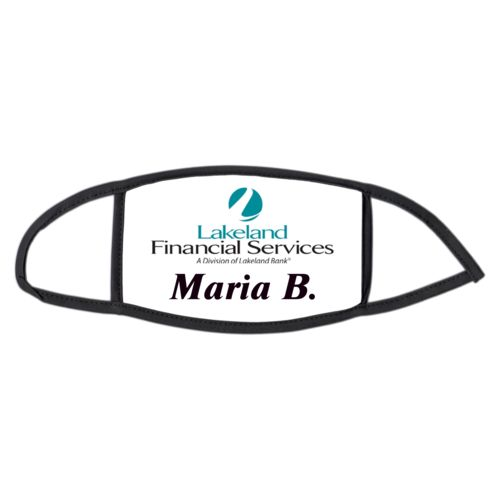 "Face masks personalized with photo and the saying ""Maria B."""