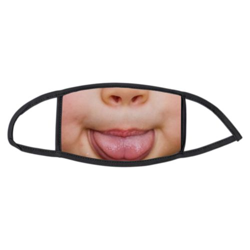 Custom large face masks personalized with Tongue stuck out