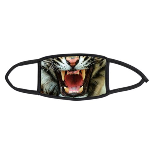 Custom small face masks personalized with Tiger face