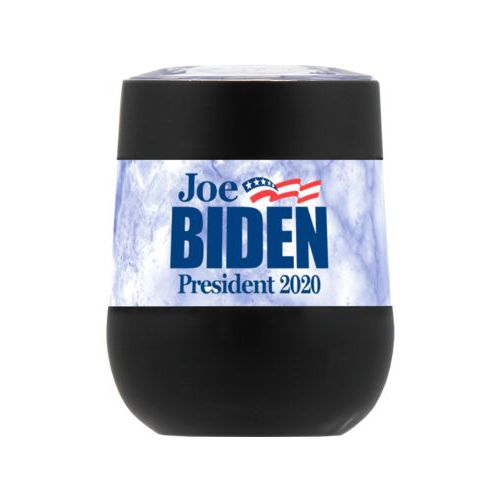 "Personalized insulated steel 8oz cup personalized with ""Joe Biden President 2020"" logo on cloud design"